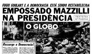 """Padrão Globo de jornalismo: transformando golpe  em """"sucessão democrática"""""""